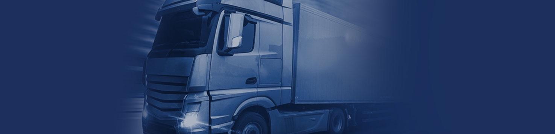 Nagłówek strony przedstawiający ciężarówkę